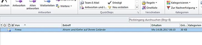 E-Mail ohne Absender
